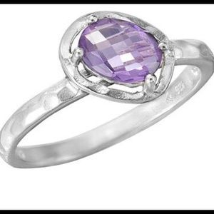 Silpada .925 Sterling Silver Lavender Fields Ring.